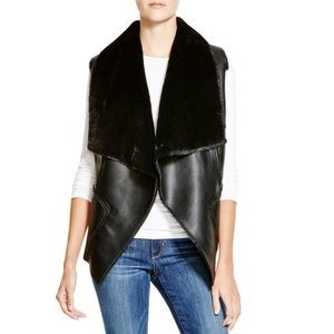 BLANK NYC Vegan Shearling Faux Leather Vest